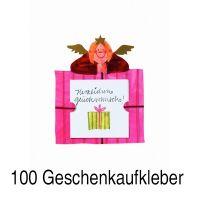 """Geschenkaufkleber Karte - """"Herzlichen Glückwunsch 2"""" 100er Set"""