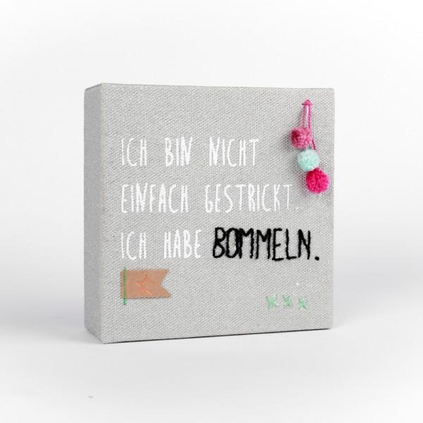 """Mini Leinwand """"Bommeln"""""""