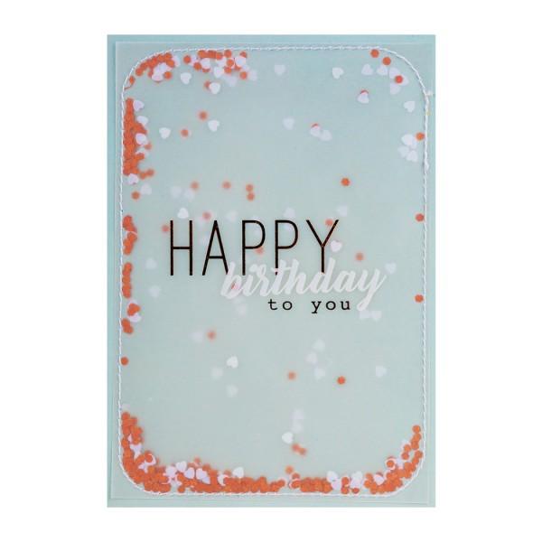 """Konfettikarte """"Happy Birthday to you"""""""