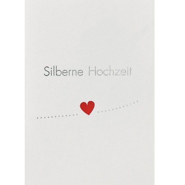 """Pop Up Hochzeitskarte """"Silberne Hochzeit"""""""
