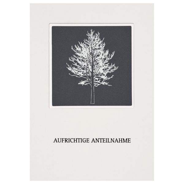 "Passepartout Trauerkarte ""Baum"""