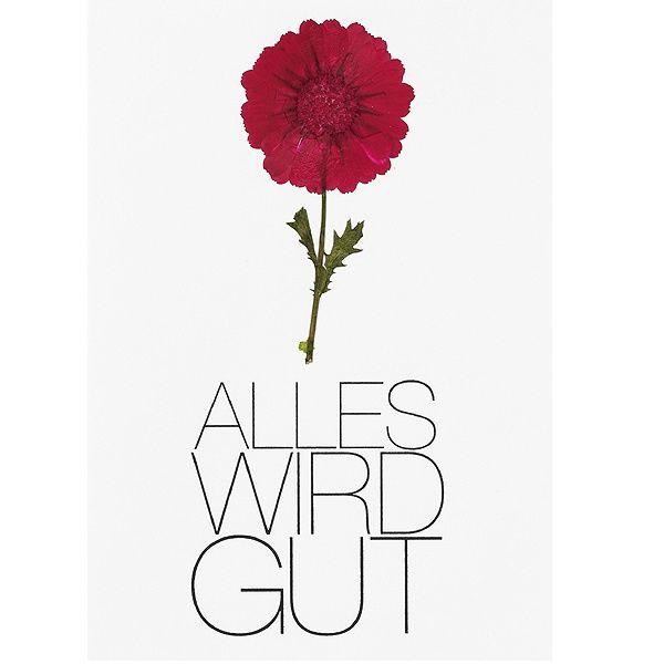 """Blütenkarte """"Alles wird gut"""""""