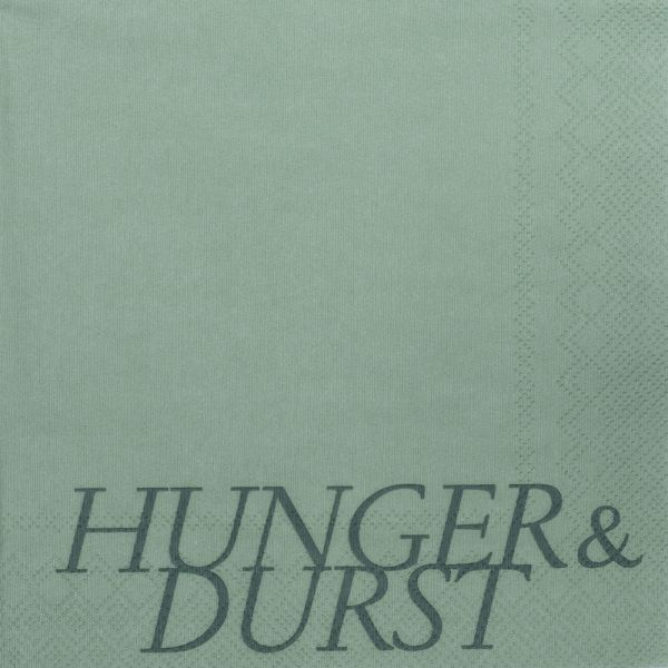 """Serviette """"Hunger & Durst"""""""