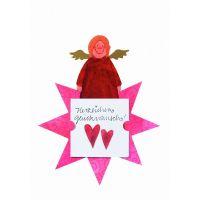"""Geschenkaufkleber Karte - """"Herzlichen Glückwunsch 1"""""""