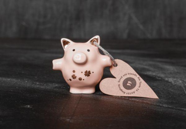 """Mini Schweine """"Klee gold"""""""