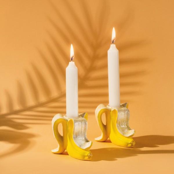 Banana Romance - Kerzenhalter Set