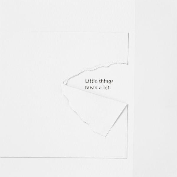 """Traumkarte """"Little things mean a lot"""""""