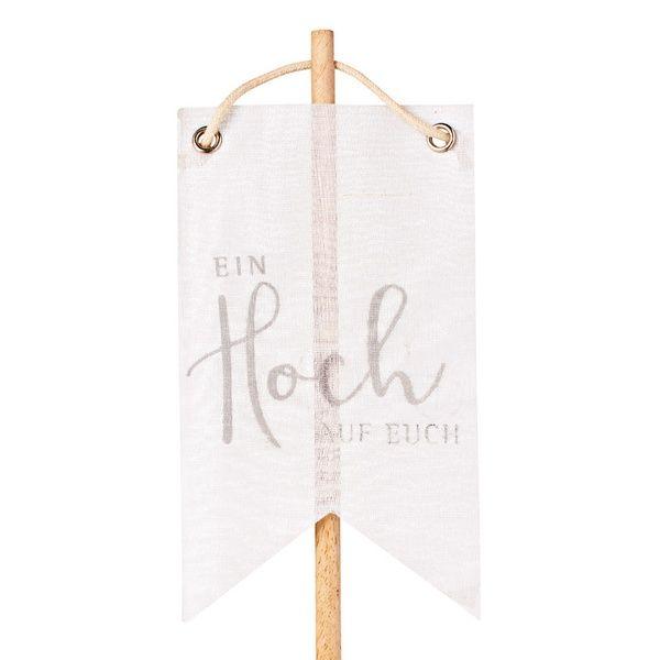 """Wimpelstecker """"Ein Hoch auf Euch"""", silber"""