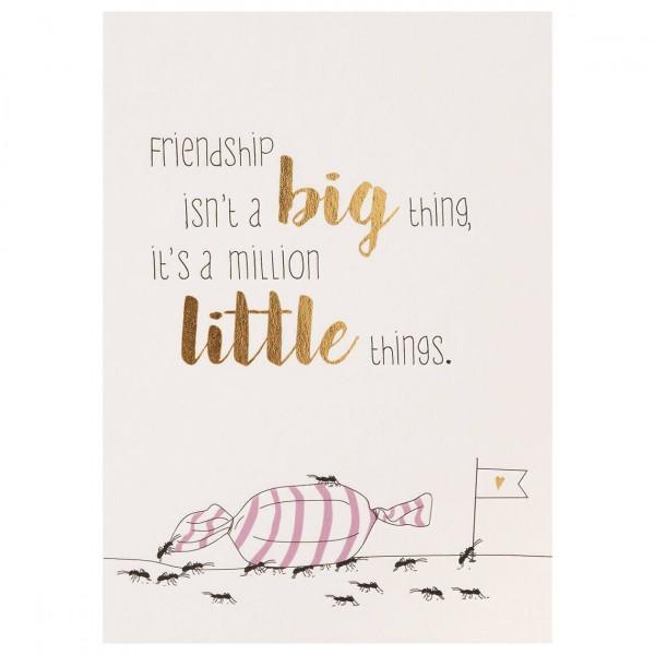 "Mein Lieblingsmensch Postkarte ""Friendship isn't a big thing"""