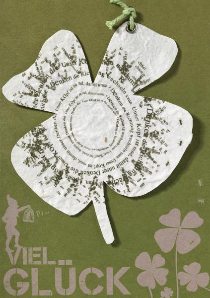 "Gartenhängerkarte ""Viel Glück"""