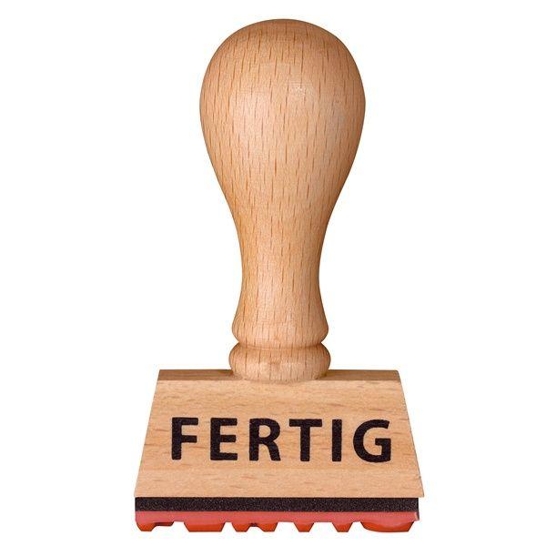 """Stempel """"FERTIG"""" 5er Set"""