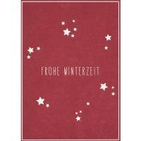 "Winter Postkarte ""Frohe Winterzeit"""