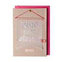 """Wimpel Karte """"1000 gute Wünsche"""""""