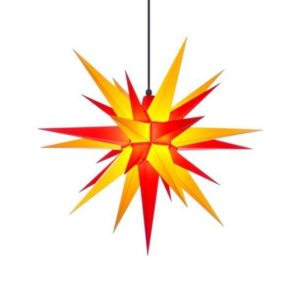 Weihnachtsstern für Außen, Gelb-Rot 68 cm