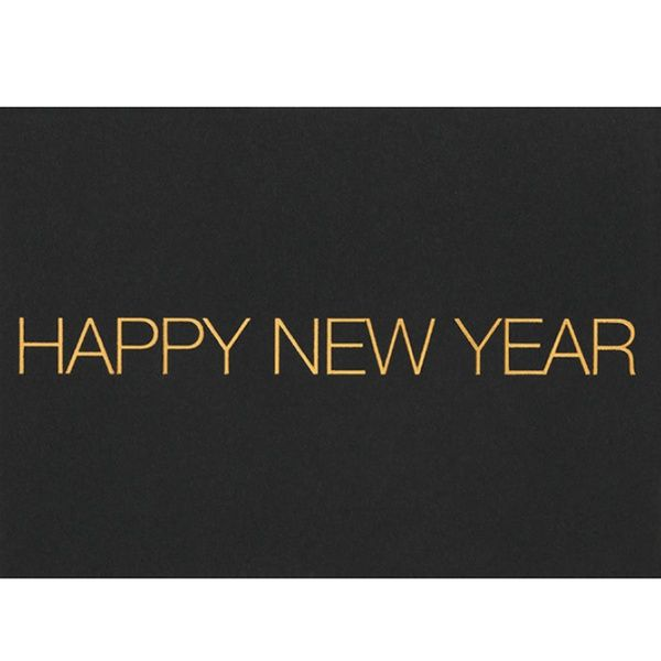 """SILVESTER Postkarte """"Happy New Year"""", quer"""