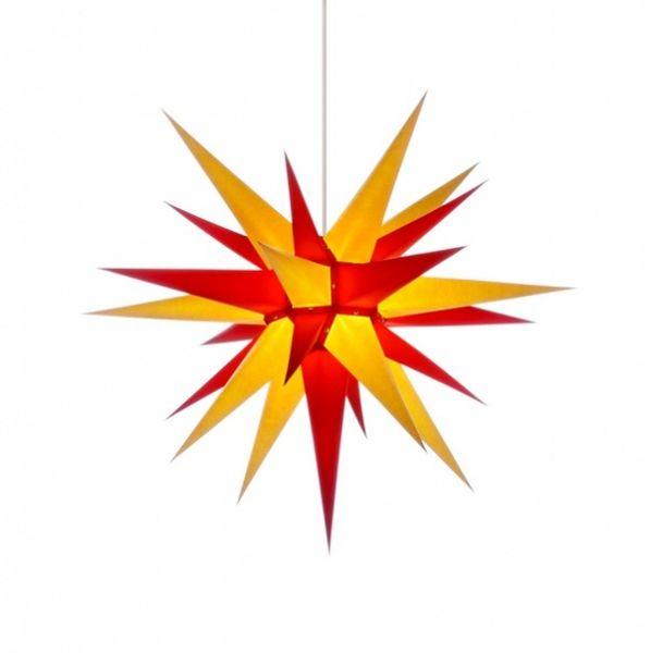 Herrnhuter Stern für Innen, Gelb-Rot 70 cm