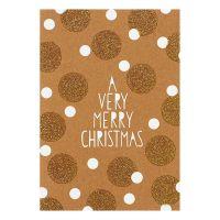 "Weihnachts Glanzstücke Karte ""A verry merry christmas"""