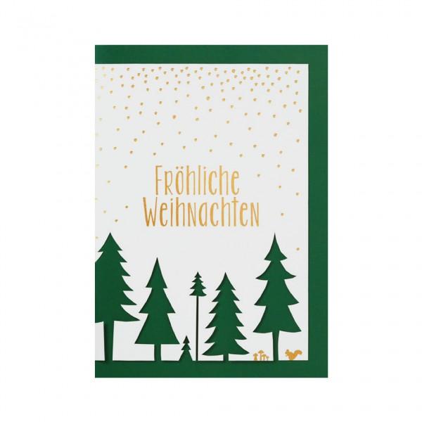 """Weihnachts Stanzkarte """"Fröhliche Weihnachten"""""""