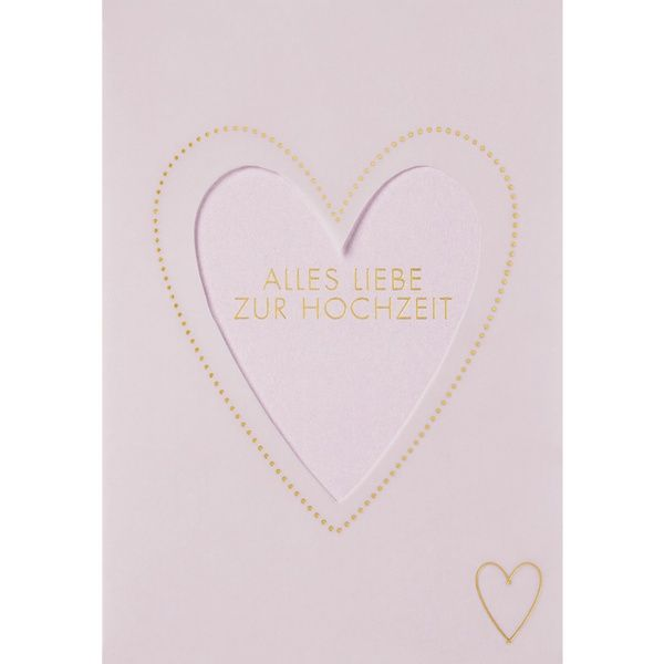 """Transparente Hochzeitskarte """"Alles Liebe zur Hochzeit"""""""