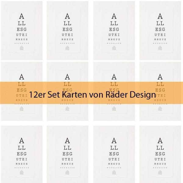 "Sehtest-Karte ""Alles Gute im neuen Zuhause"" 12er Set"