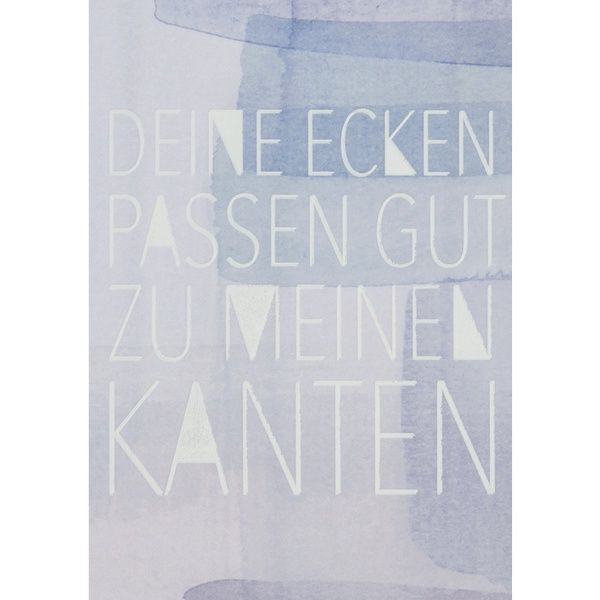"""Aquarell Postkarte """"Deine Ecken passen gut …"""""""