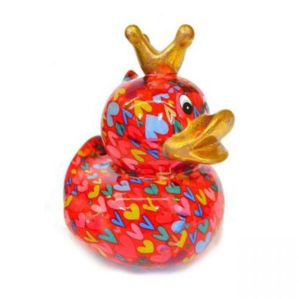 Big Ducky L - Rot mit Herzen