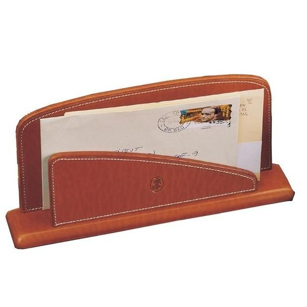 Briefständer Leder Cognac