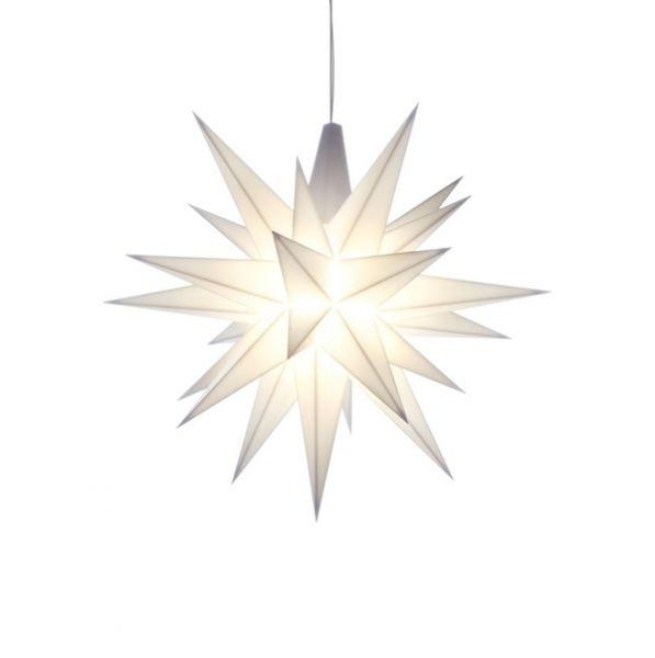 Herrnhuter Stern für Innen, Weiß 13 cm