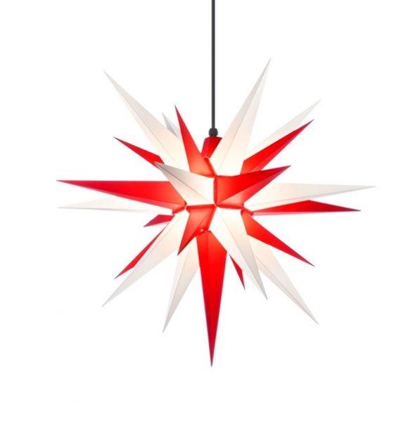 Weihnachtsstern für Außen, A7 Weiß-Rot 68 cm