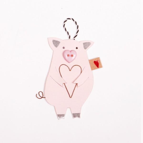 Glücksschweinchen Herz