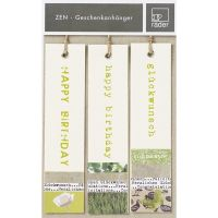 Zen Geschenkanhänger, Grün