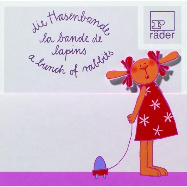 Hasenbande Tischkarte Lore Löffel 100 x 6er Set (600 Stück)