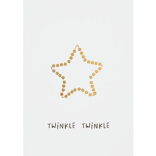 """Weihnachts Illustration Postkarte """"Twinkle Twinkle"""""""