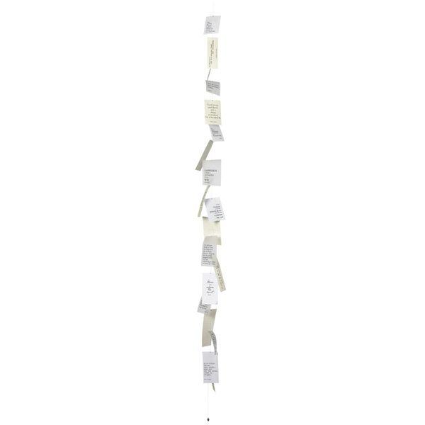 Zuhause Poesiekette weiss 170 cm