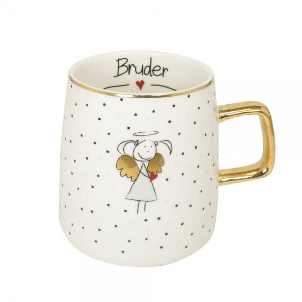 """Tasse mit Goldhenkel """"Bruder"""""""