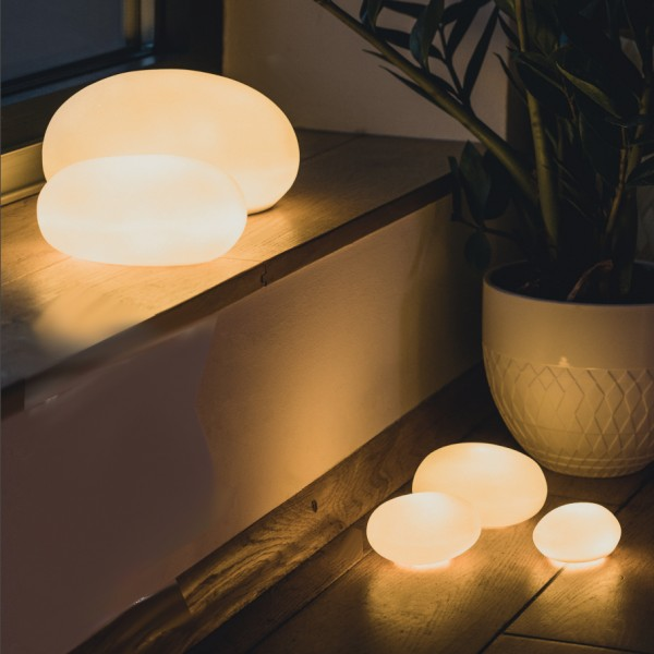 LED Lichtkieselstein klein