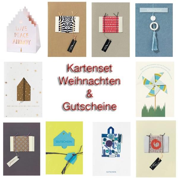 120 Weihnachts-und Gutscheinkarten im Super-Sparset