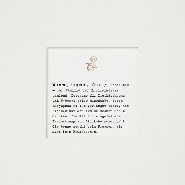 "Passepartoutkarte ""Wonneproppen"""