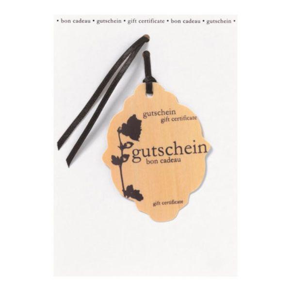 """Holzanhänger Karte """"Gutschein"""""""
