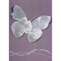 """Schmetterling Karte """"Glückwunsch"""", Violett"""
