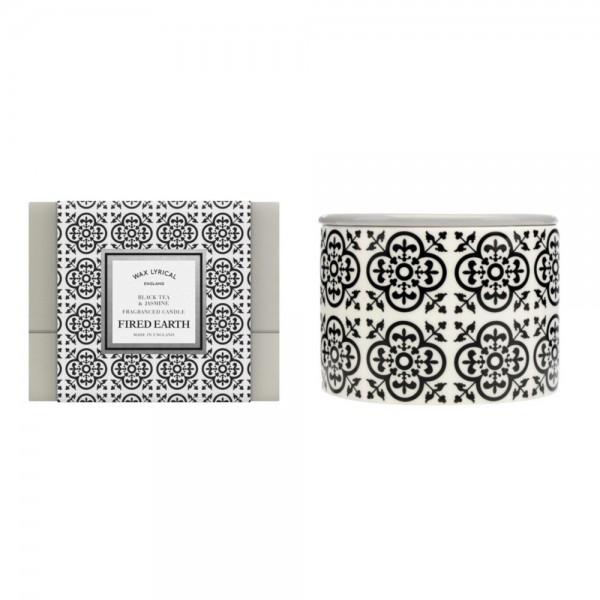 Ceramic Twin Wick Candle - Black Tea & Jasmine