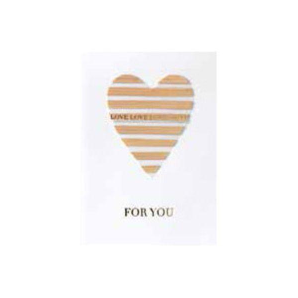 """Herzkarte """"For you"""""""