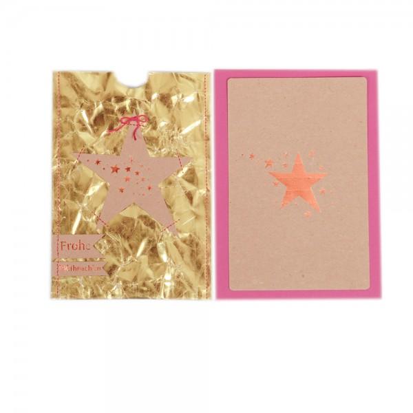 "Gold & Silberkarte ""Stern"""