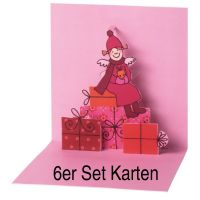 "Himmlische Schwestern Pop-Up Karte ""Motiv 3"" 6er Set"