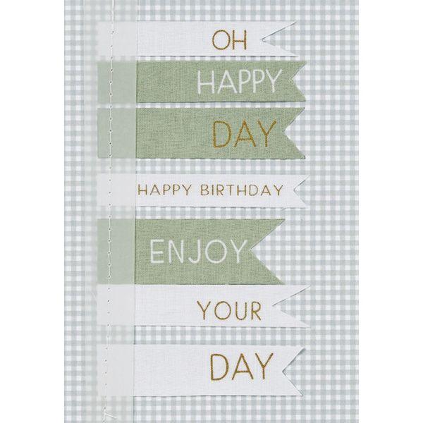 "Fahnenkarte ""Oh Happy Day"""