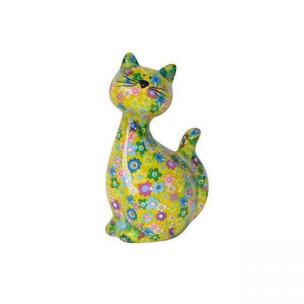 """Katze """"Caramel"""" M - Gelb mit Blumen"""