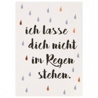 """Mein Lieblingsmensch Postkarte """"Ich lasse dich nicht im Regen"""""""