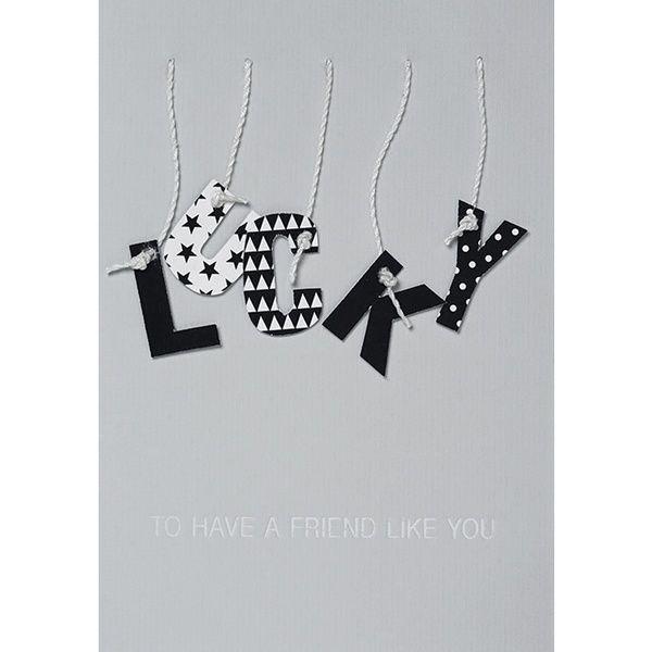 "Buchstaben Karte ""Lucky"""