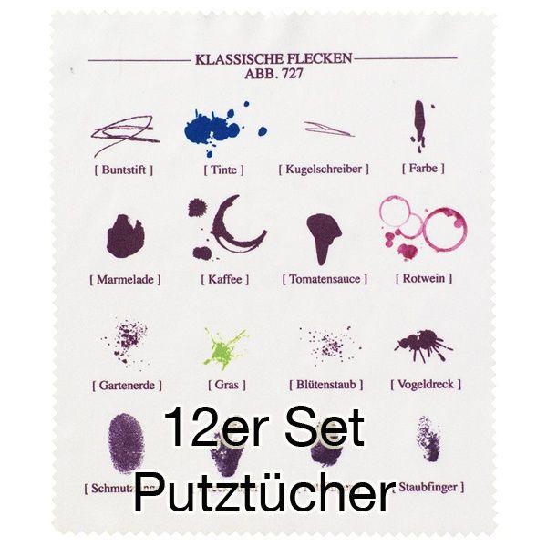 """Putztuch """"Zeichen"""" 12er Set"""