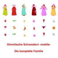 Himmlische Schwestern Mobile Familie 6er Set